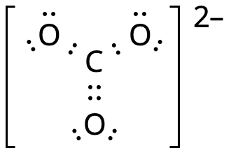 Carbonate ion lewis structure.